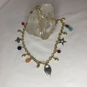 Chico's gold charm necklace